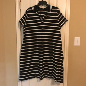 Lands' End Striped Polo Dres